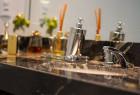 Banheiro dos quartos - Bancada em Mármore Premium